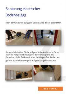 Sanierung elastischer Bodenbeläge