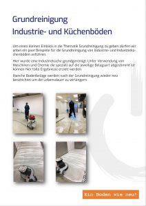 Grundreinigung Industrie- und Küchenböden